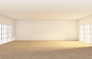 Empty room with parquet, 3d renderingのイラスト素材 [FYI04336206]