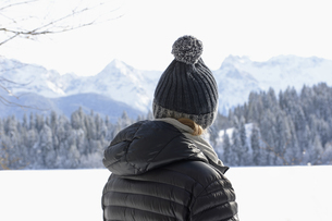 Germany, View over Lake Bram to Karwendel mountainsの写真素材 [FYI04336247]