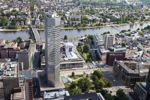 Europe, Germany, Hesse, Frankfurt, View of European Centralの写真素材 [FYI04336300]