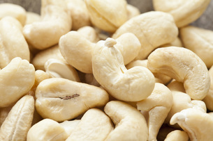 Cashew nuts, close upの写真素材 [FYI04336411]