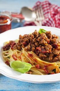 Plate of Spaghetti Bolgneseの写真素材 [FYI04336467]