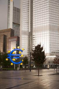 Germany, Hesse, Frankfurt, European Central Bankの写真素材 [FYI04336483]