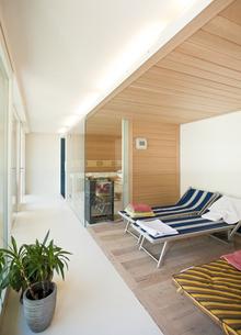 One-family house, sauna areaの写真素材 [FYI04337436]