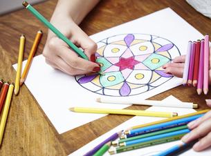 Hand drawing mandalaの写真素材 [FYI04337456]