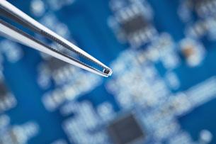 Close up of printed circuit boardの写真素材 [FYI04337530]