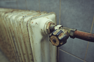 Germany, Bavaria, old heaterの写真素材 [FYI04337540]