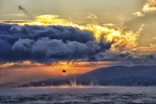 Arctic Ocean, clouds above the Barents Sea at twilightの写真素材 [FYI04337753]