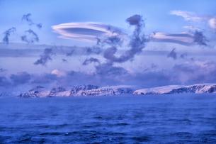 Arctic Ocean, clouds above the Barents Seaの写真素材 [FYI04337758]