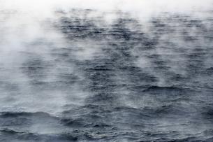 Arctic Ocean, steam raising up from Barents Seaの写真素材 [FYI04337763]