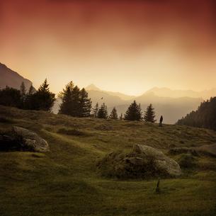 Italy, Lombardy, Chiareggio, Valmalenco, Mountains, lonely mの写真素材 [FYI04337826]