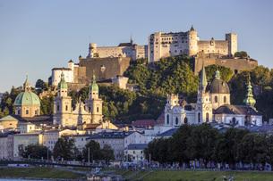 Austria, Salzburg, View of Hohensalzburg fortressの写真素材 [FYI04338314]