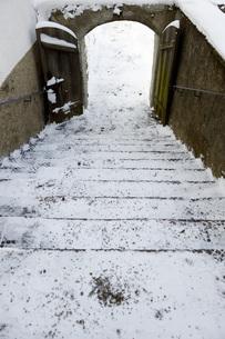 Germany, Bavaria, Chiemsee, island Frauenchiemsee, snow-cappの写真素材 [FYI04339443]