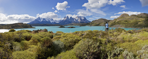 South America, Chile, Patagonia, Torres del Paine National Pの写真素材 [FYI04340150]