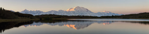 USA, Alaska, View of Mount McKinley and Alaska Range at Denaの写真素材 [FYI04340226]