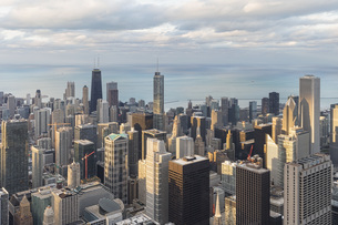 USA, Illinois, Chicago, View from Willis tower over chicagoの写真素材 [FYI04340265]