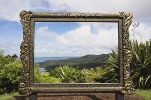 New Zealand, North Island, View of waitakere ranges regionalの写真素材 [FYI04340992]