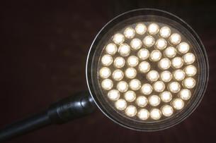 LED lamp on black backgroundの写真素材 [FYI04341278]