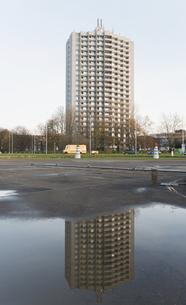 Germany, North Rhine-Westphalia, Aachen, Europaplatz, high-rの写真素材 [FYI04341380]