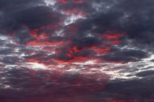 Africa, Namibia, Damaraland, dramatic sky at sunsetの写真素材 [FYI04341548]