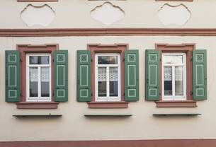 Germany, Rhineland-Palatinate, Freinsheim, Facade of a histoの写真素材 [FYI04341553]