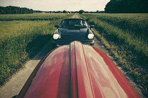 Germany, North Rhine-Westphalia, Minden, Oldtimer Porsche, Oの写真素材 [FYI04341559]