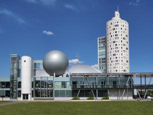 Estonia, Tartu, high-rise residential building Tigutorn behiの写真素材 [FYI04341865]