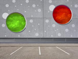 Estonia, Tartu, car park, 3D Renderingのイラスト素材 [FYI04341866]