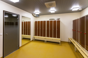 Estonia, Tartu, Heino Eller's Music school, locker's room, wの写真素材 [FYI04342466]