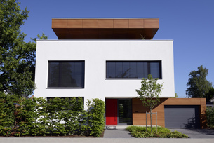 Germany, modern detached one-family houseの写真素材 [FYI04342727]