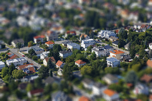Austria, Vienna, view to residential areaの写真素材 [FYI04342875]