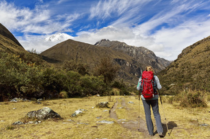 Peru, Andes, Cordillera Blanca, Huascaran National Park, touの写真素材 [FYI04343091]