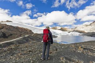 Peru, Andes, Cordillera Blanca, Huascaran National Park, touの写真素材 [FYI04343096]