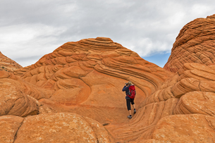 USA, Arizona, Page, Paria Canyon, Vermillion Cliffs Wilderneの写真素材 [FYI04343178]