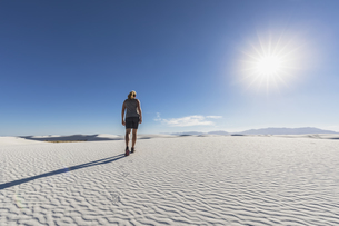 USA, New Mexico, Chihuahua Desert, White Sands National Monuの写真素材 [FYI04343263]