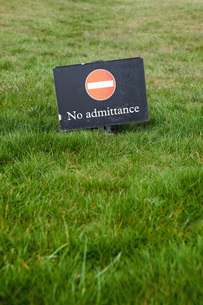 Great Britain, Sign, No admittanceの写真素材 [FYI04343527]