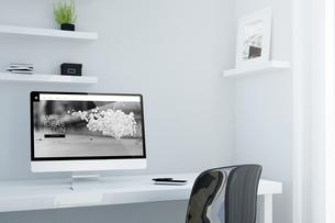 Minimalist workspace, studio for designer or creative profesのイラスト素材 [FYI04344376]