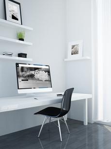 Minimalist workspace, studio for designer or creative profesのイラスト素材 [FYI04344378]