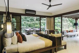 Indonesia, Bali, hotel roomの写真素材 [FYI04345544]