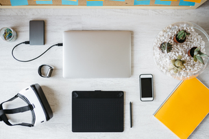 Workplace at home officeの写真素材 [FYI04345639]