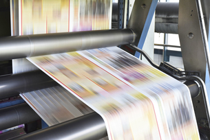 Printing machine in a printing shopの写真素材 [FYI04349725]
