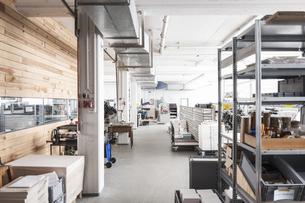 Storeroom of a printing shopの写真素材 [FYI04350311]