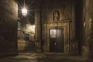 Spain, Santiago de Compostela, facade of San Paio de Antaresの写真素材 [FYI04352488]