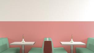 Interior of American Diner, 3D Renderingのイラスト素材 [FYI04357832]