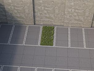 Piece of nature between parking lots, 3D Renderingのイラスト素材 [FYI04357893]
