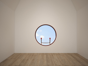 Empty room with oculus, 3D Renderingのイラスト素材 [FYI04357894]