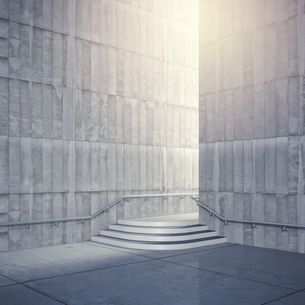 Empty room with concrete walls, 3D Renderingのイラスト素材 [FYI04357896]
