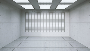 Wall with lockers in a room of a bank, 3D Renderingのイラスト素材 [FYI04358055]