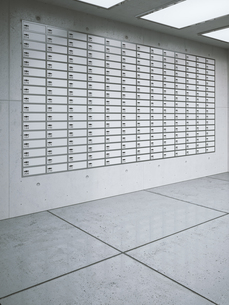 Wall with lockers in a room of a bank, 3D Renderingのイラスト素材 [FYI04358060]