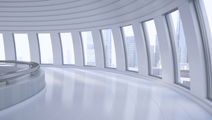 Empty hall in a high-rise building, 3D Renderingのイラスト素材 [FYI04358183]