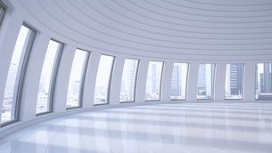 Empty hall in a high-rise building, 3D Renderingのイラスト素材 [FYI04358185]